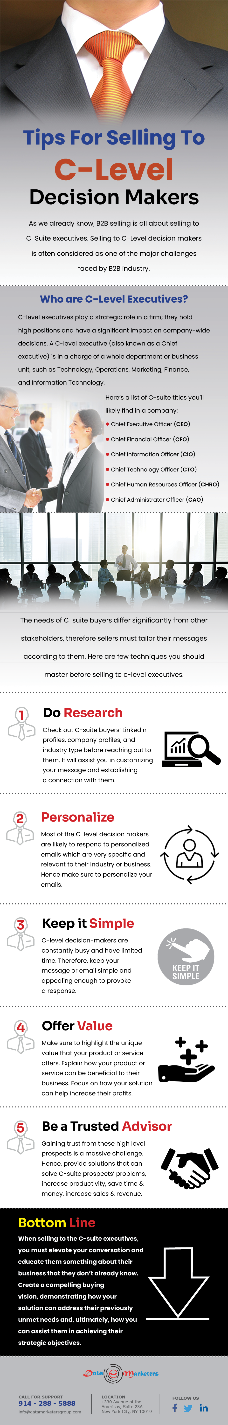 Tips For Selling C Level Decision Makers | Data Marketers Group